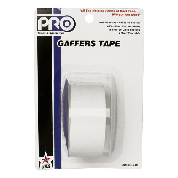 PRO GAFF 2 X 6YARDS POCKET TAPE - WHITE
