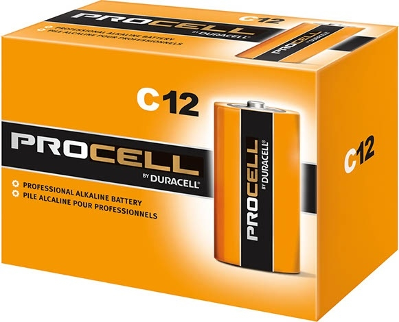 DURACELL PROCELL  C CELL ALKALINE BATTERY