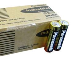 PANASONIC INDUSTRIAL ALKALINE BATTERIES AA BATTERIES (24/ batteries per carton) - PI-AA - LR6XWA/C