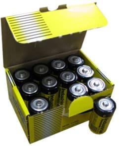PANASONIC INDUSTRIAL ALKALINE D BATTERIES (12/batteries per carton) - PI-D - LR20XWA/C