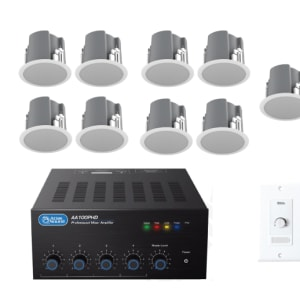 Restaurant Sound System With 10 Ceiling Speakers Jireh Supplies