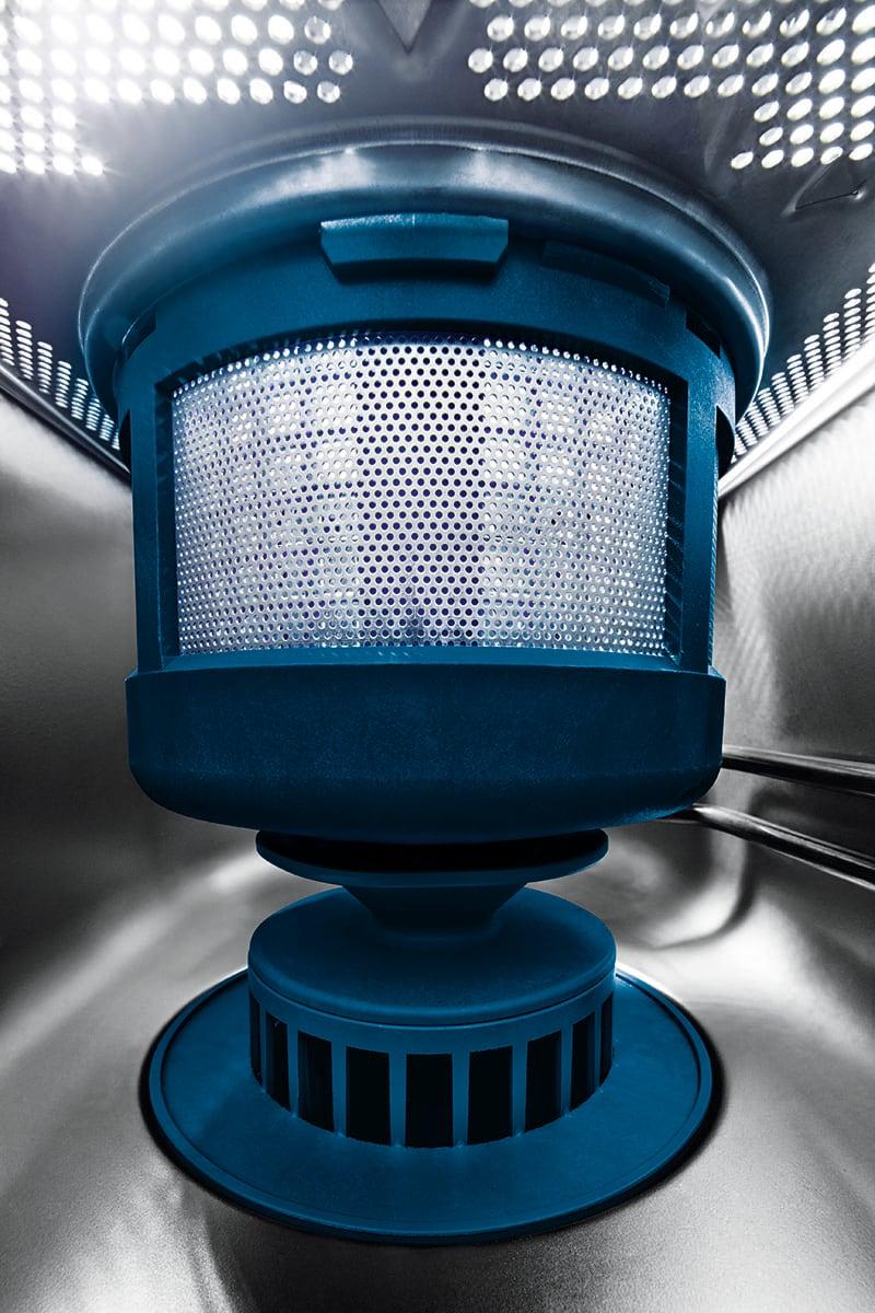 Deep drawn wash tank & GENIUS-X² Fine Filter System