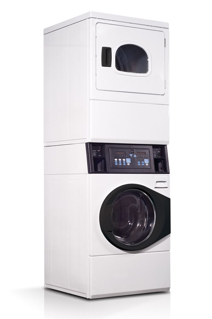 Commercial laundry equipment: Stacked washers & dryers