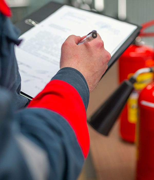 Maintenance of fire safety equipment