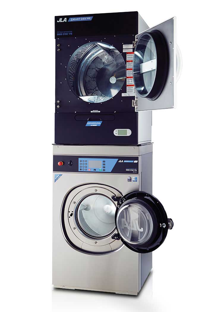 Stackable washer-dryer combinations