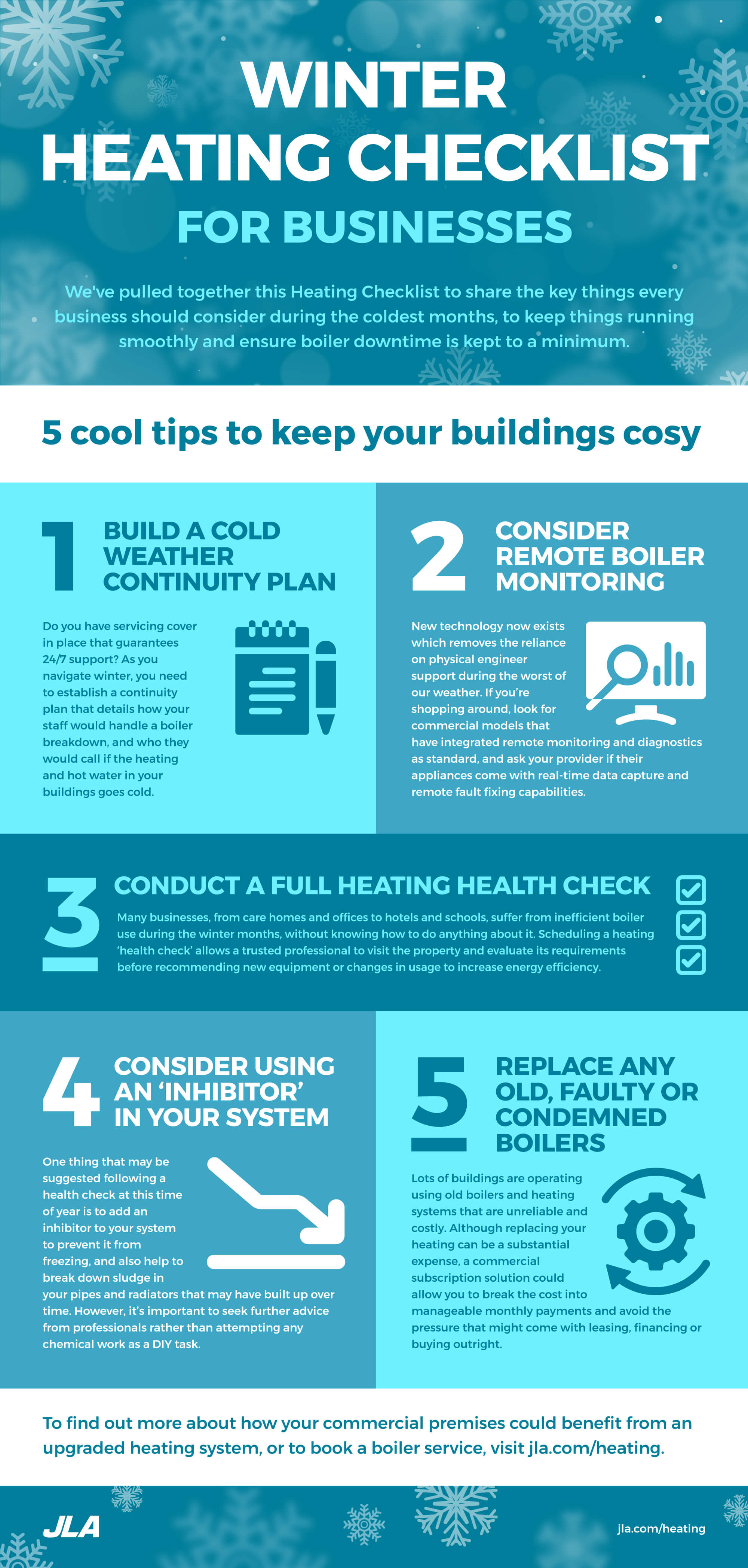 Winter heating checklist from JLA