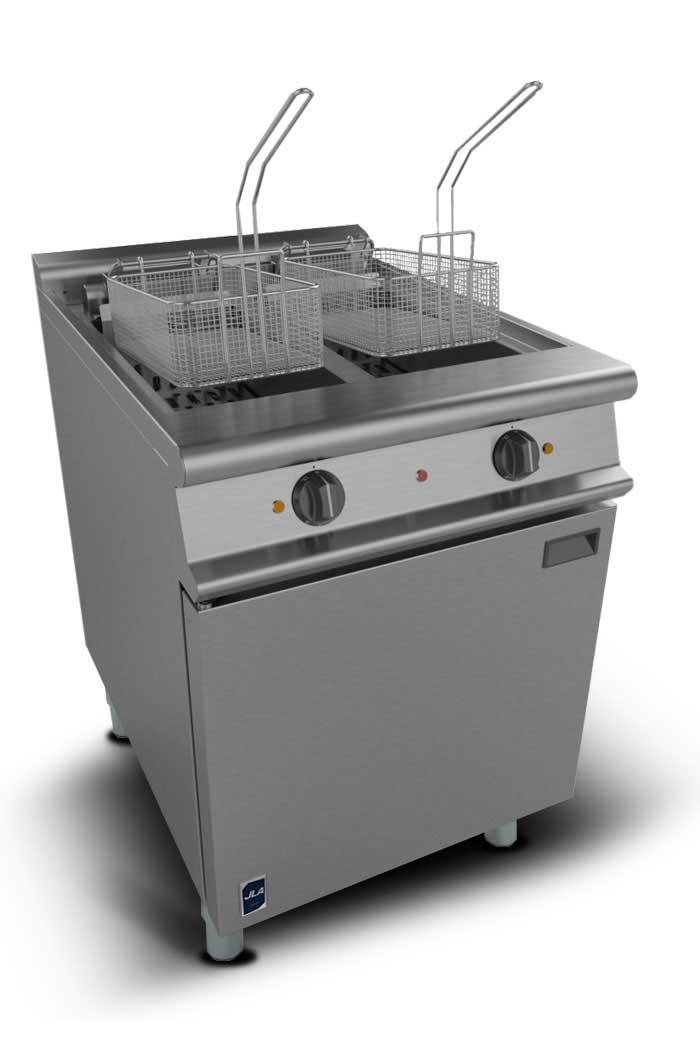 JLA Electric Twin-Tank Floor Fryer
