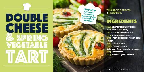 Care Home Meals - Spring Vegetarian Tart