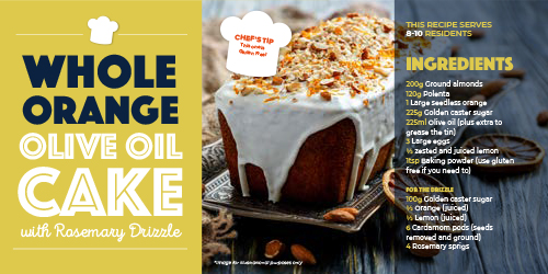 Care Home Meals - Orange Oil Cake