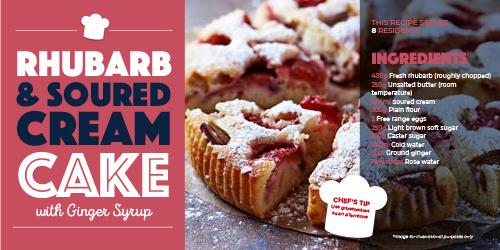 Care Home Meals - Rhubarb Cake