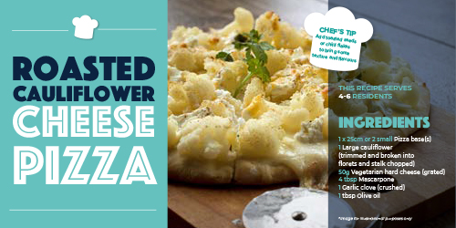 Care Home Meals - Cauliflower Pizza