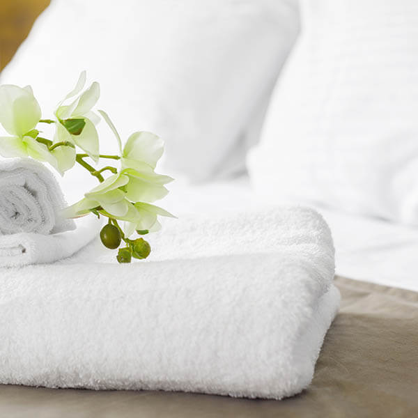 Clean towels for hotels