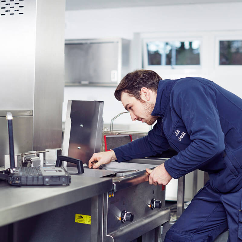 Servicing catering equipment