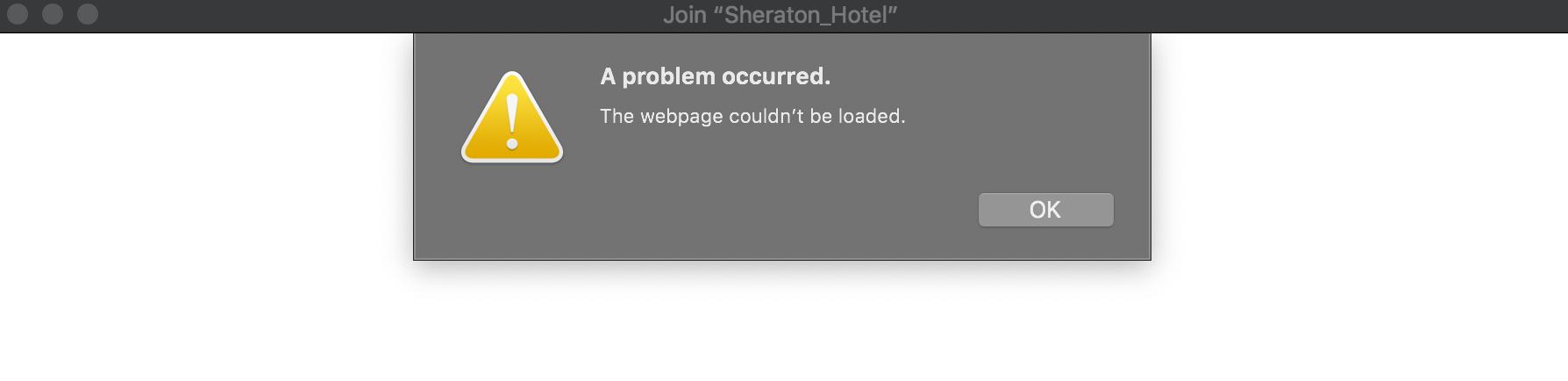 macOS: A Problem Occurred