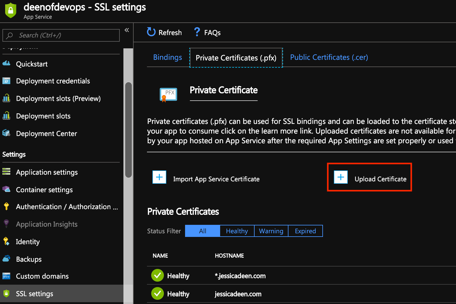 How to set up a Let's Encrypt SSL Cert for Azure Web App with Linux in 5 steps