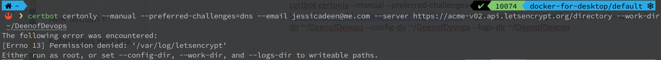 certbot-example