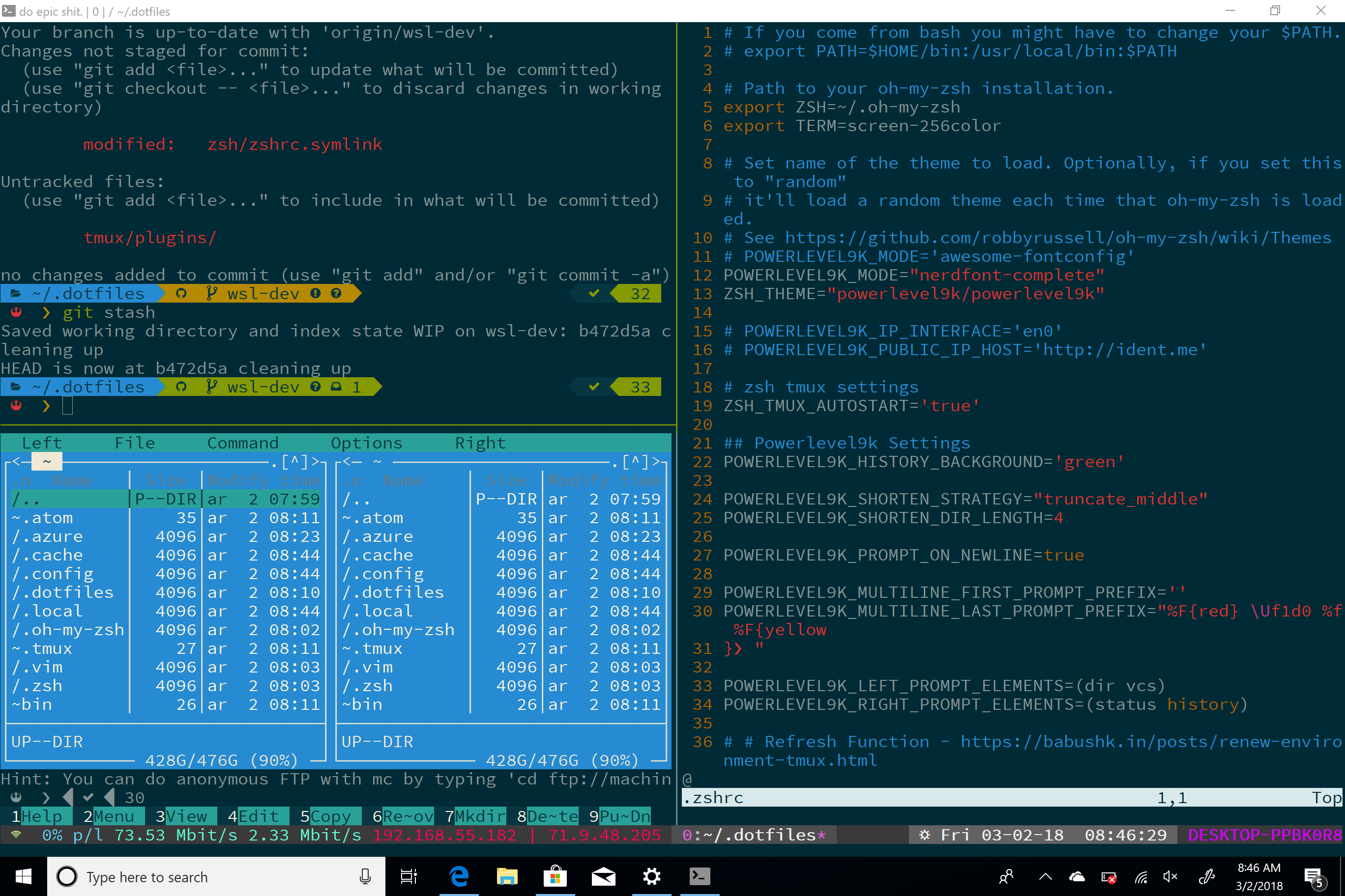 Badass Terminal: WSL, macOS, and Ubuntu dotfiles update!!!