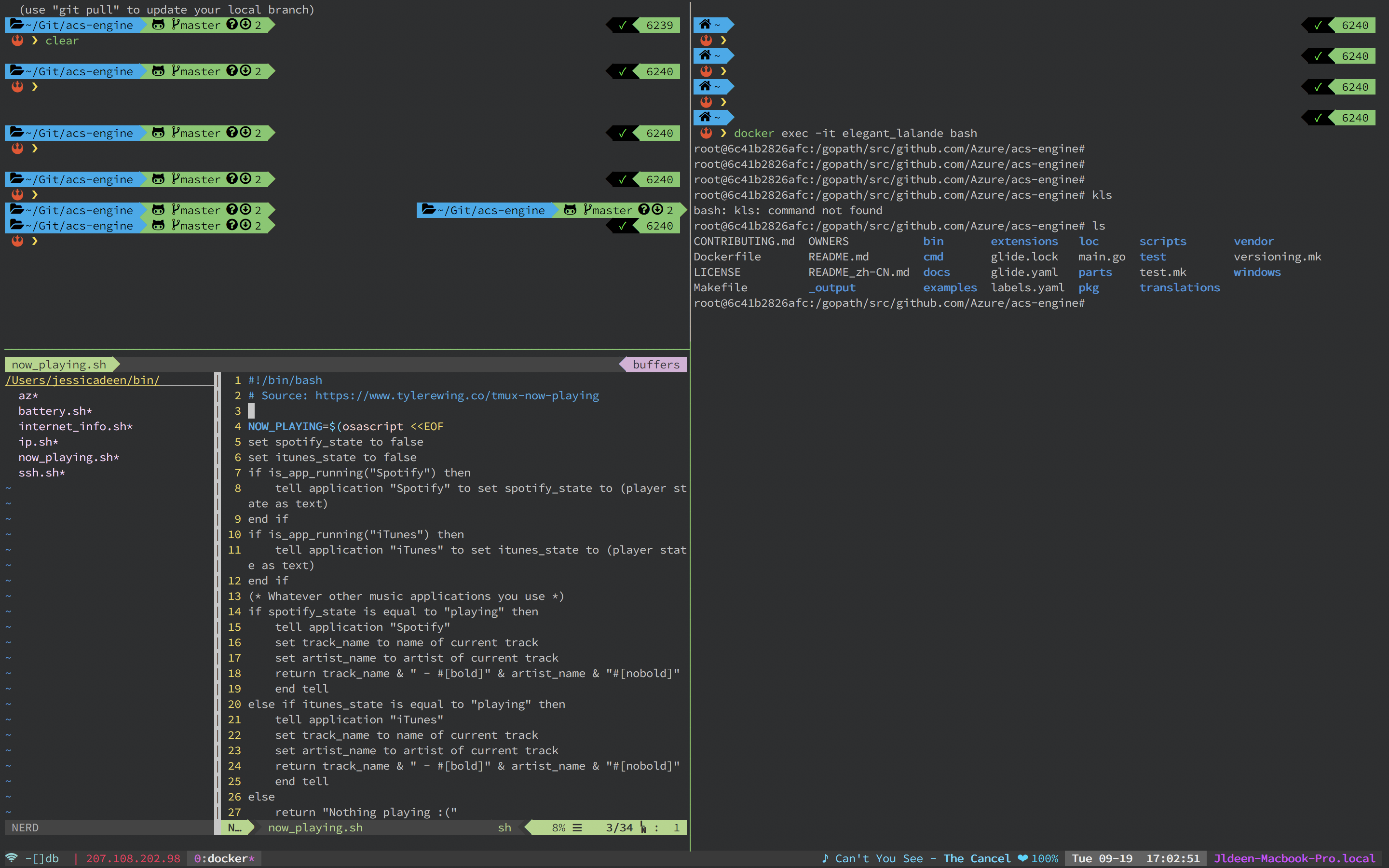 Tmux 2.6 copy/paste and bind tips and tricks!