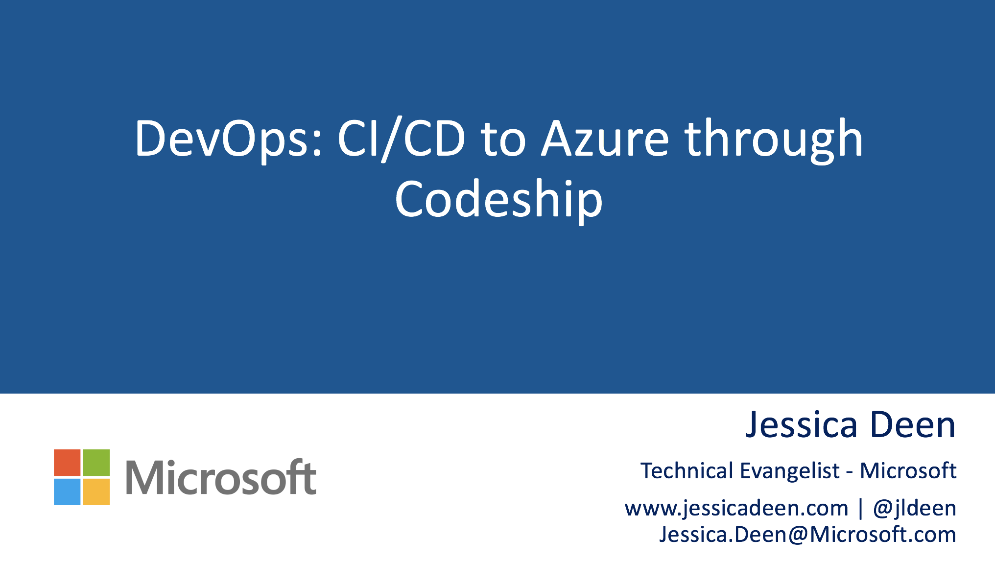 Linuxfest Northwest Deck: DevOps: CI/CD to Azure through Codeship