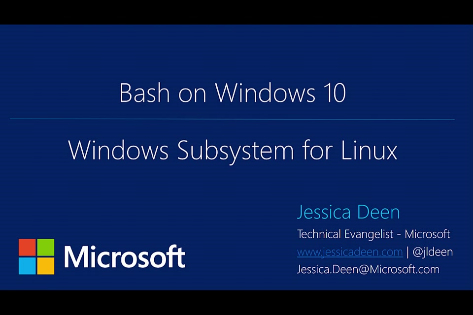 SVCC: Getting Started with Bash on Windows 10 Recap and Channel 9 Video