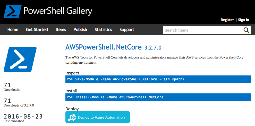 AWS Tools for PowerShell Core on Linux and OS X