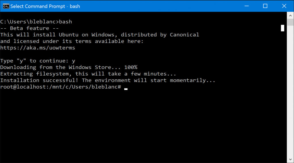 Bash on Windows!