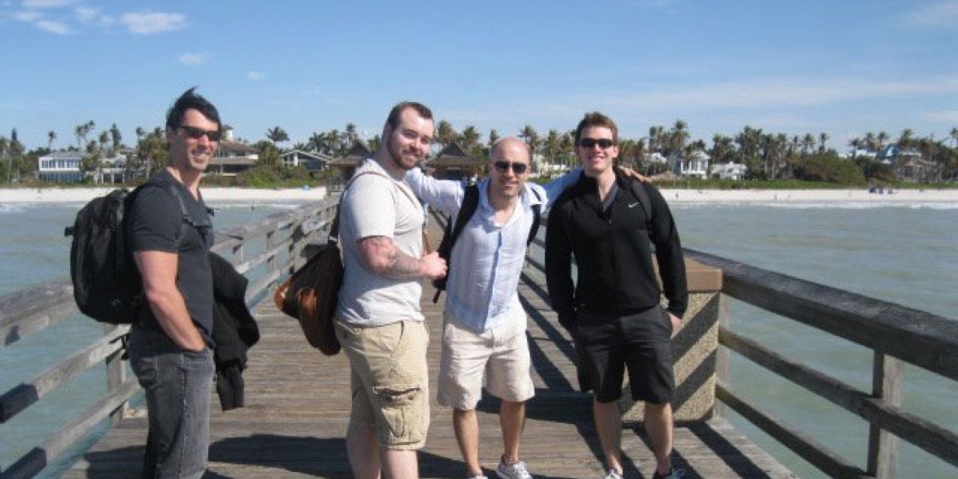 JB, Jason, Phil, and Nate in Florida.