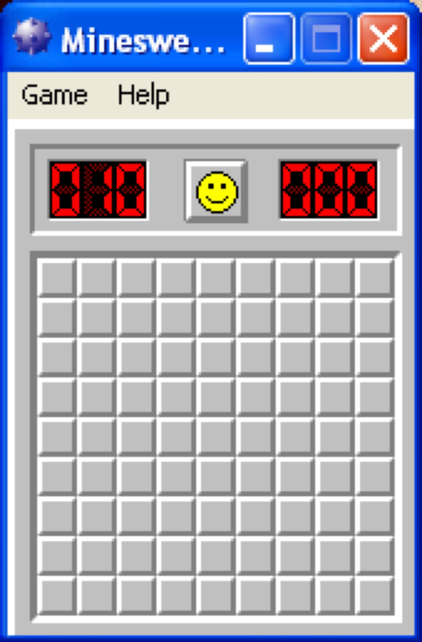 Minesweeper for Windows.