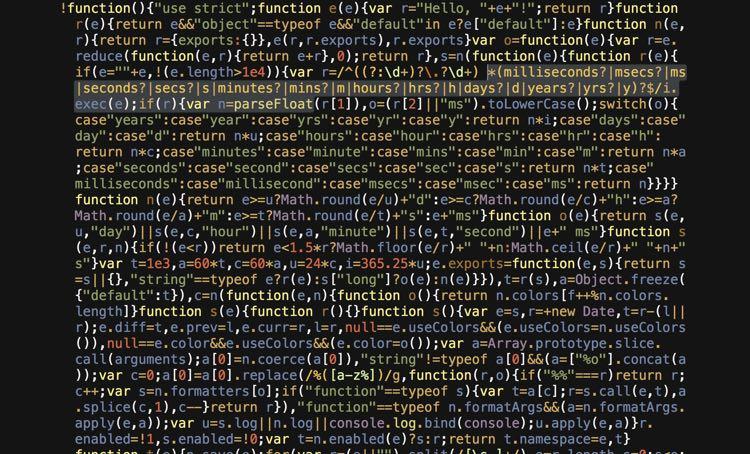 Minified JavaScript code.