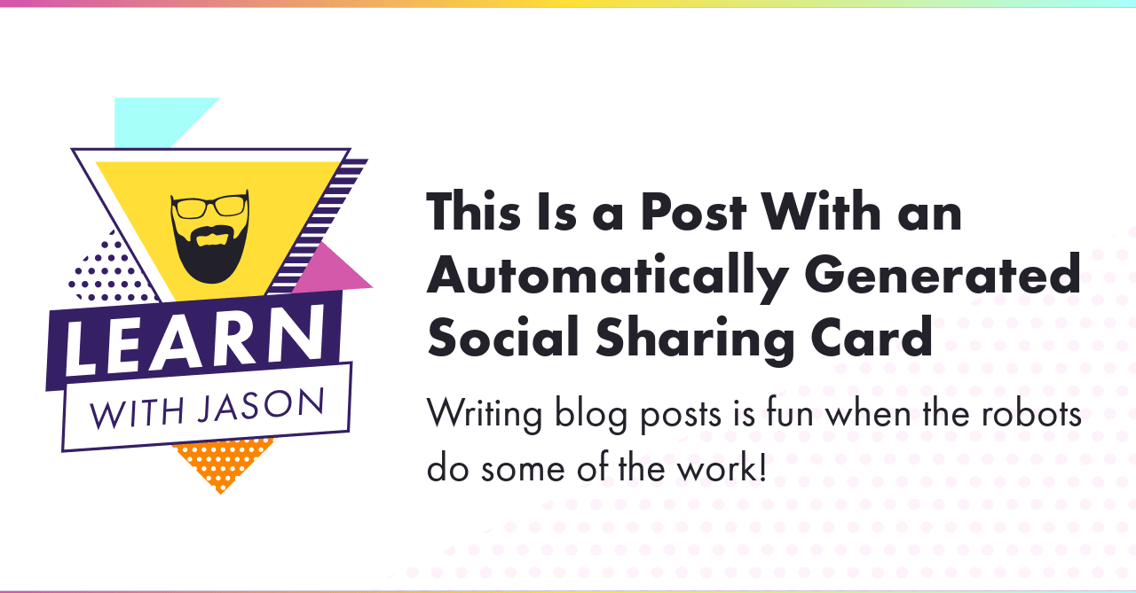 The social sharing card with the defined title and tagline using custom fonts and other settings.