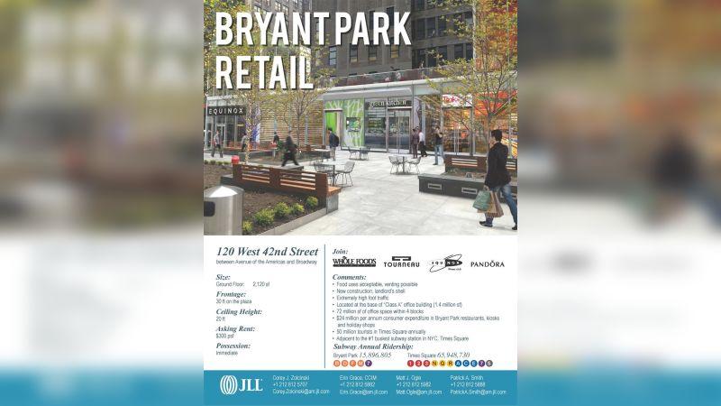 3 Bryant Park - Retail - Lease