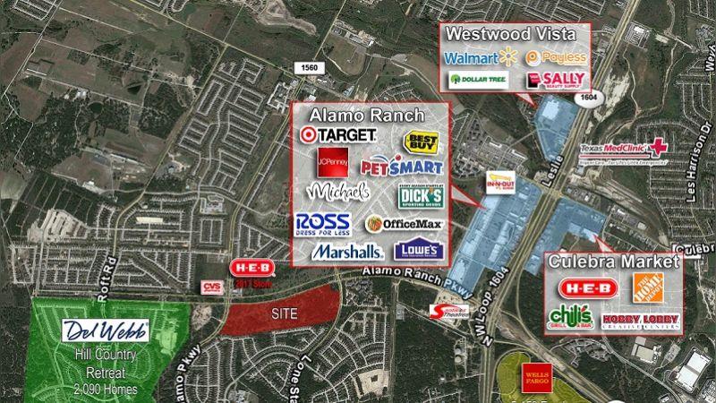 Alamo Ranch Land - Retail - Sale