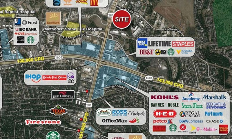 US Highway 281 Pad Sites - Retail - Lease, Sale - Property View