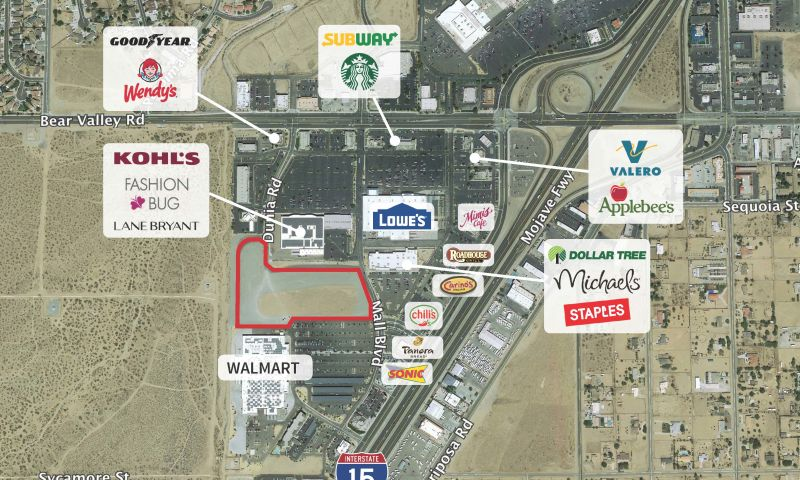Sams Club | Victorville Excess Land - Retail - Sale - Property View