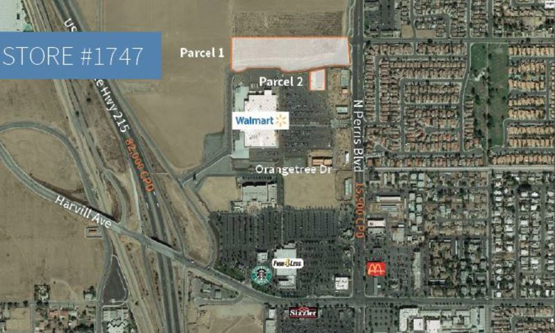 Walmart | Perris Excess Land - Retail - Sale - Property View