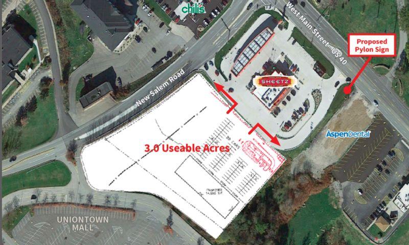 Uniontown PA - Land - Retail - SaleLease - Property View