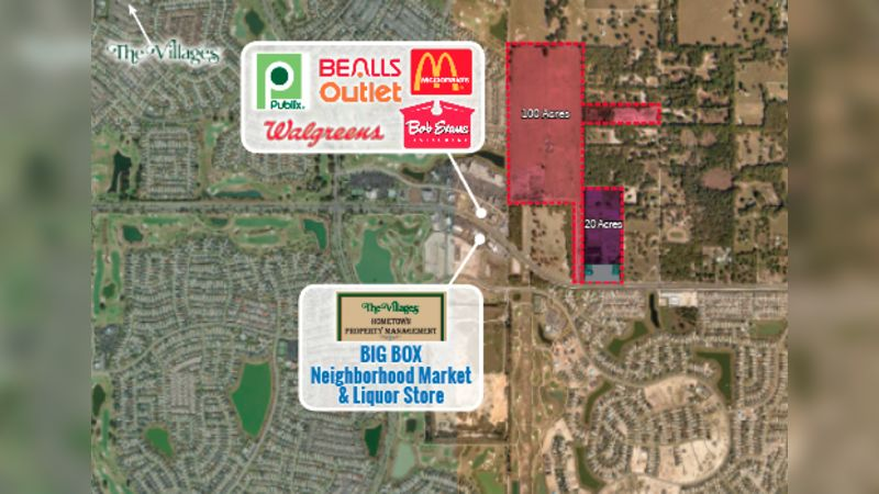Fruitland Park - 100 acres - Retail - Sale