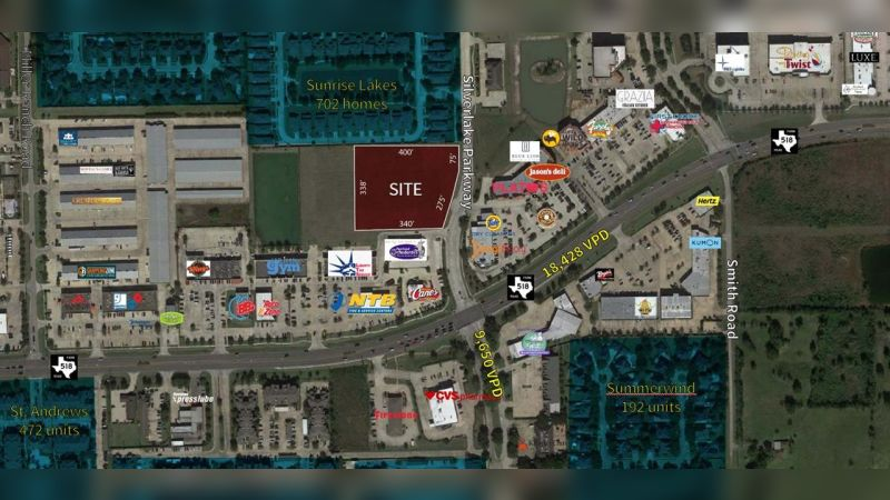 FM 518 and Silverlake Parkway - Land - Sale
