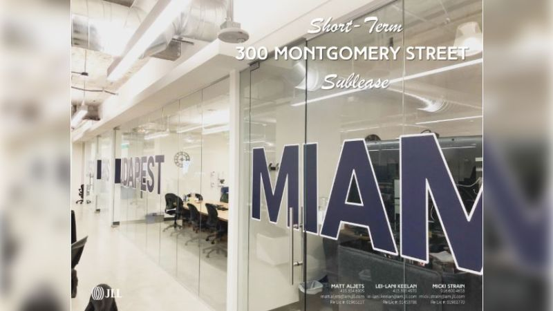 300 Montgomery Street - Office - Sublease, Lease