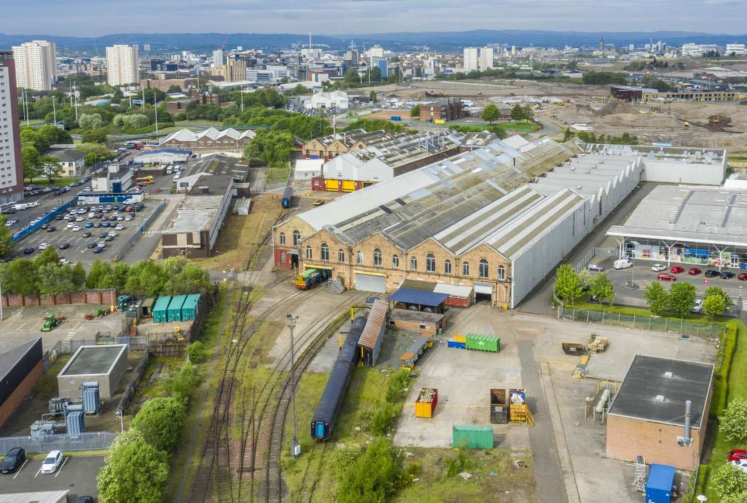 Industrial Glasgow, G21 2PS - Springburn Rail Depot - 1