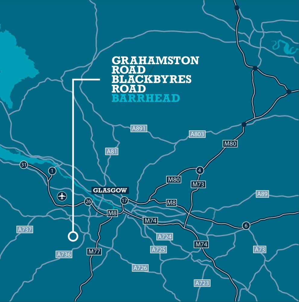 Land Glasgow, G78 1TL - Grahamston Road /Blackbyres Road - 1
