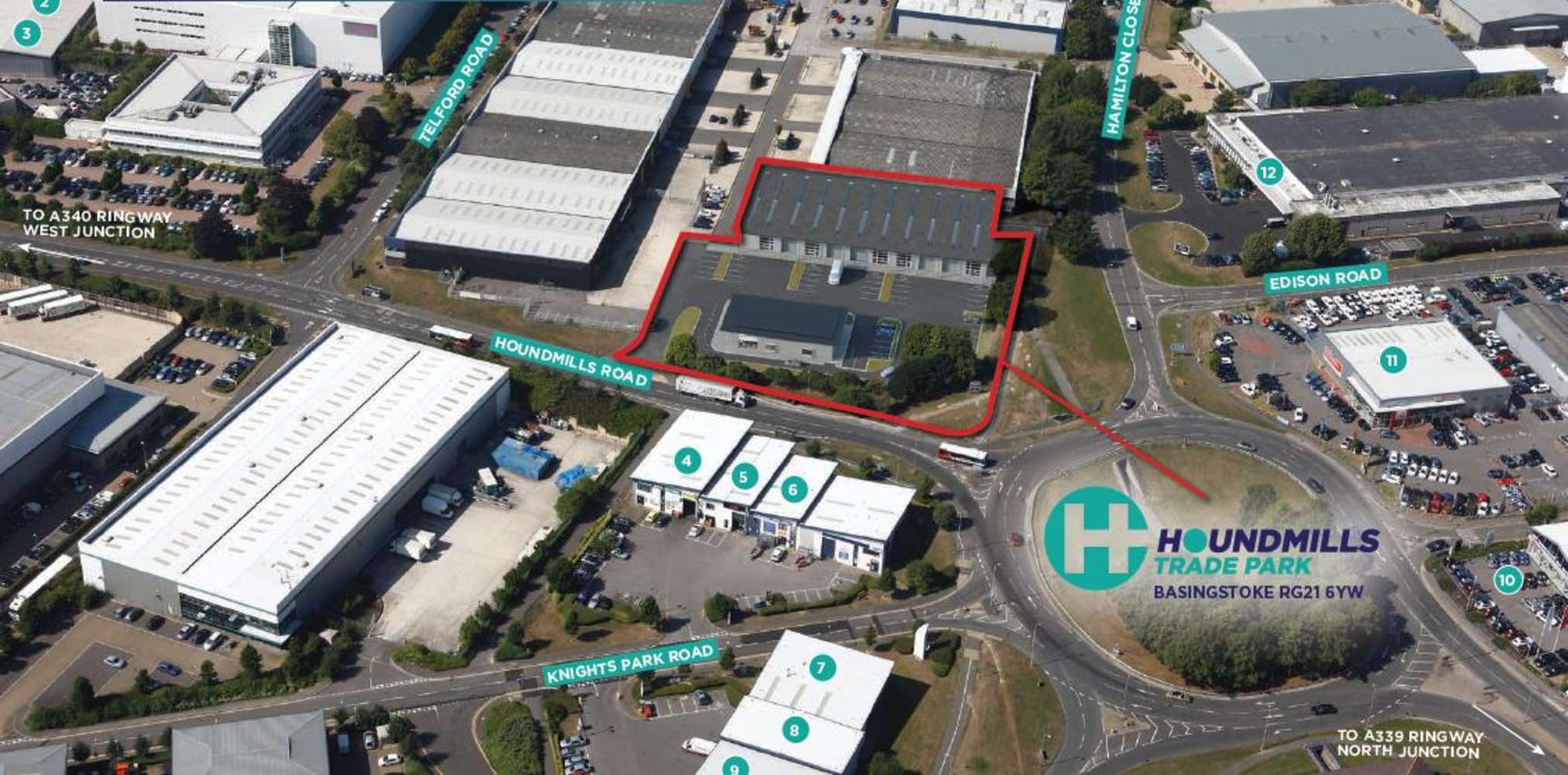Industrial and logistics Basingstoke, RG21 6YT - Houndmills Trade Park, Houndmills Road - 3435