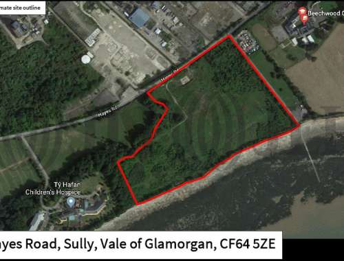 Land Penarth, CF64 5ZE - Development Land for Sale, Hayes Road, Sully, Vale of Glamorgan - 1