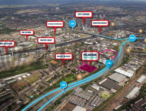 Industrial Glasgow, G41 1SB - Milnpark Trading Estate - 76981