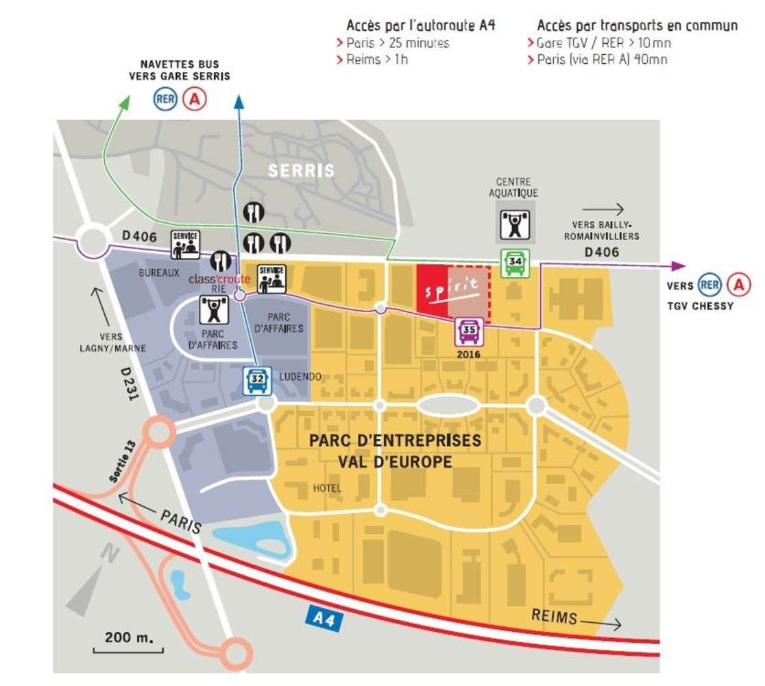 Activités/entrepôt Bailly romainvilliers, 77700 - PARC D'ENTREPRISES VAL D'EUROPE - 9455709