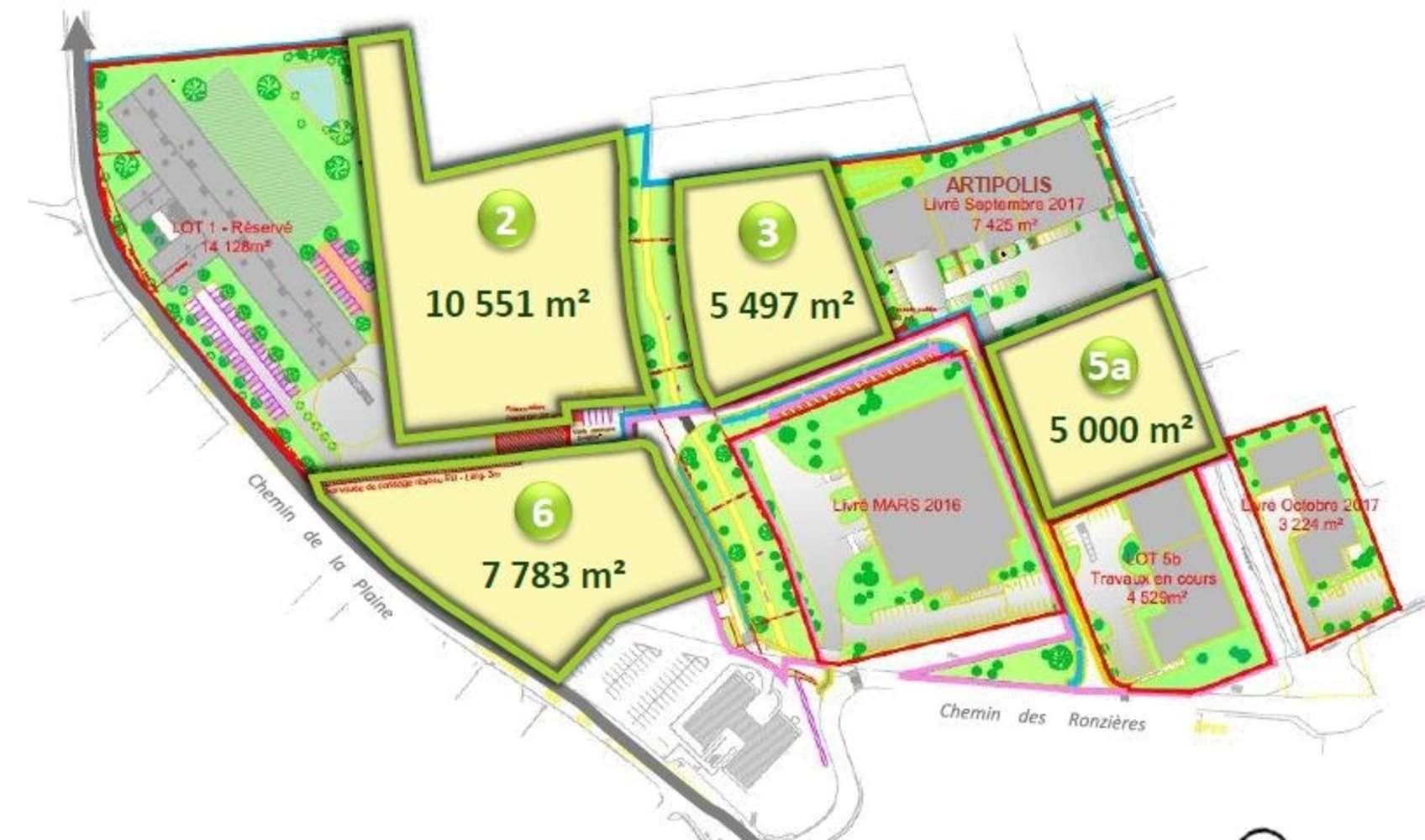 Plateformes logistiques Vourles, 69390 - Les Plattes 4 - Terrains - Vourles - 9572217