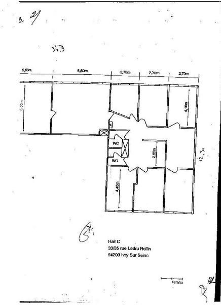 bureaux louer 33 35 rue ledru rollin 94200 ivry sur. Black Bedroom Furniture Sets. Home Design Ideas