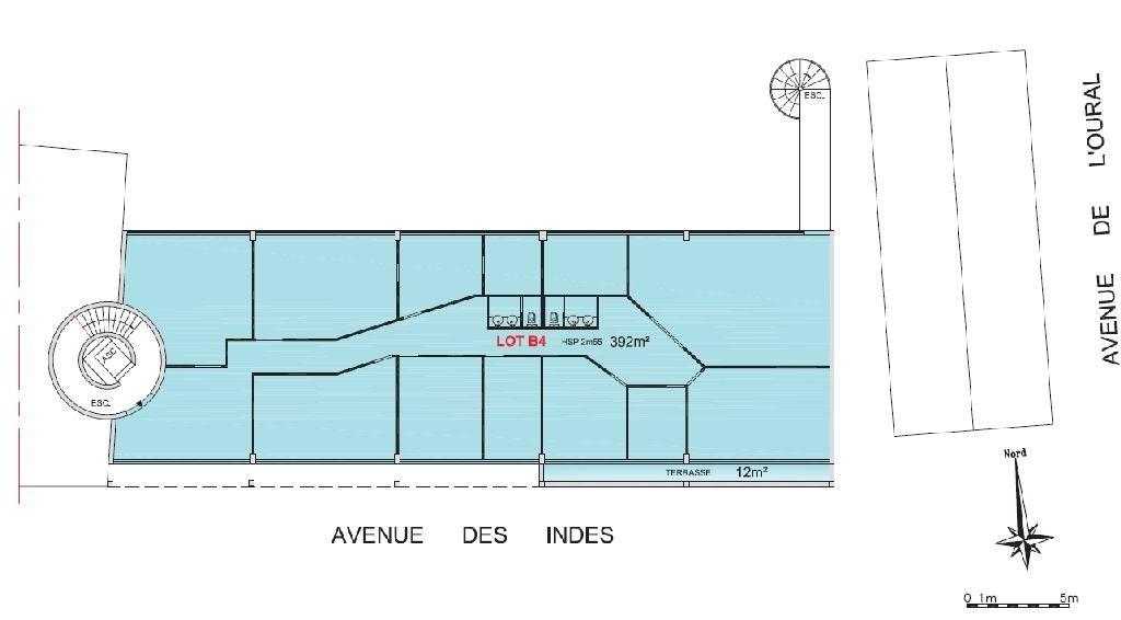 Bureaux à louer à LES ULIS 91940 - LA FERME DE COURTABOEUF plan d'étage 1