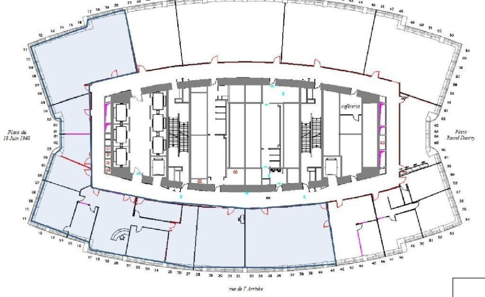 Bureaux louer tour montparnasse 75015 paris 52941 jll for Plan interieur gare montparnasse