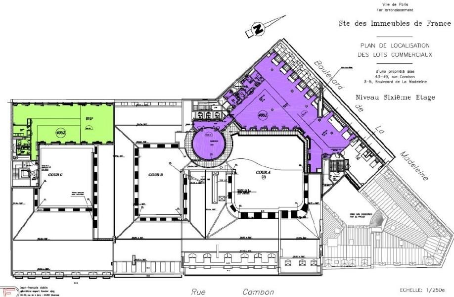 Bureaux à louer à PARIS 75001 - 3-5 BOULEVARD DE LA MADELEINE plan d'étage 2